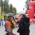 Haastattelutehtävissä Tahko Mountain Bike-tapahtumassa.